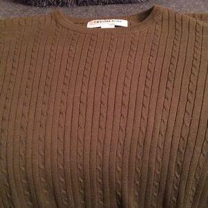 Short sleeved lightweight sweater